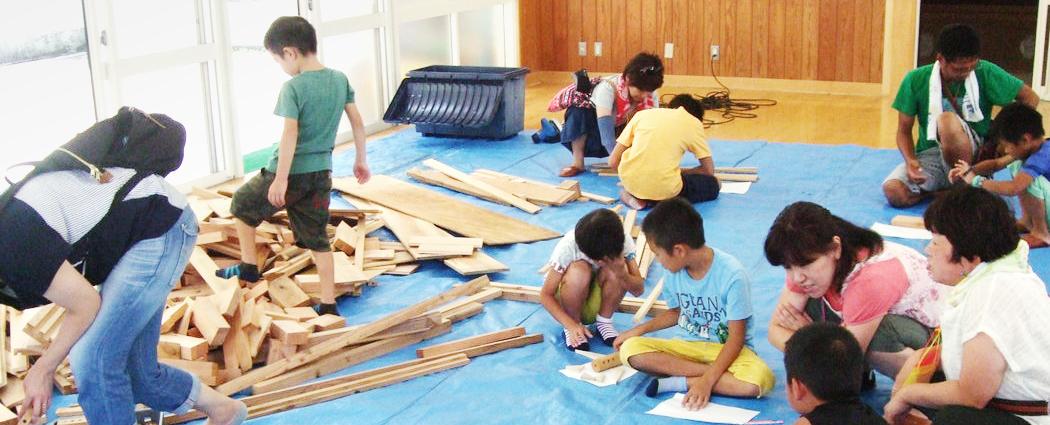 夏休みのワークショップ! みんなで木工工作